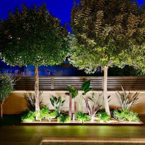 iluminación de jardines en Tarragona