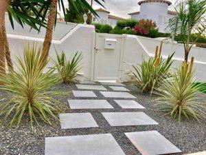 construcción de jardines pisos y piedras